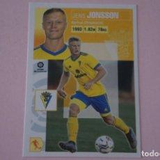 Cromos de Fútbol: CROMO DE FUTBOL JONSSON DEL CADIZ C.F. SIN PEGAR FICHAJE 16 LIGA ESTE 2020-2021/20-21. Lote 221752930