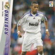 Cromos de Fútbol: MEGACRACKS 2008 2009 Nº 158 ROBINHO DEL REAL MADRID ,PANINI. Lote 221918395