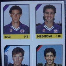 Cromos de Fútbol: FIGURINA MICRO CALCIO 90-91 VALLARDI 1991 MILAN FIORENTINA ATALANTA PAZZAGLI BORGONOVO. Lote 221918911