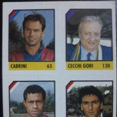 Cromos de Fútbol: FIGURINA MICRO CALCIO 90-91 VALLARDI 1991 BOLOGNA FIORENTINA BARI CABRINI JOAO PAULO CECCHI GORI. Lote 221919108