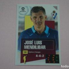 Cromos de Fútbol: CROMO DE FUTBOL JOSE LUIS MENDILIBAR DEL S.D. EIBAR SIN PEGAR Nº 1 LIGA ESTE 2020-2021/20-21. Lote 222063082