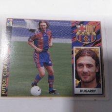 Cromos de Fútbol: CROMO EDICIONES ESTE LIGA 97 98 DOBLE IMAGEN ÚLTIMO FICHAJE 8 DUGARRY BARCELONA SIN PEGAR. Lote 222089338