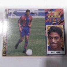 Cromos de Fútbol: CROMO EDICIONES ESTE LIGA 97 98 DOBLE IMAGEN ÚLTIMO FICHAJE 9 REIZIGER BARCELONA SIN PEGAR. Lote 222089372