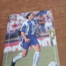 Cromos de Fútbol: PANINI MEGAFICHAS 2003-2004 CARD ERRATA MANU CF MÁLAGA. Lote 222105278