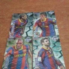 Cromos de Fútbol: FC BARCELONA 4 TOPS BRILLANTES 2012 MUNDICROMO. Lote 222112106