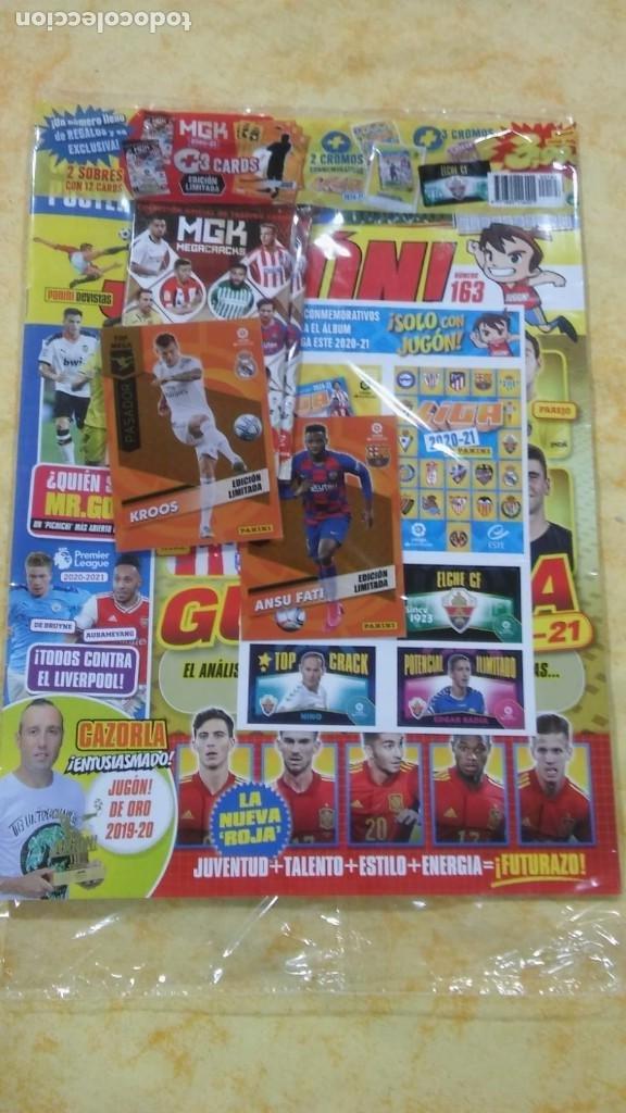 REVISTA JUGON 163 PANINI CROMO ANSU FATI Y CONMEMORATIVOS Y CHICLE LIGA DEL ELCHE $ (Coleccionismo Deportivo - Álbumes y Cromos de Deportes - Cromos de Fútbol)