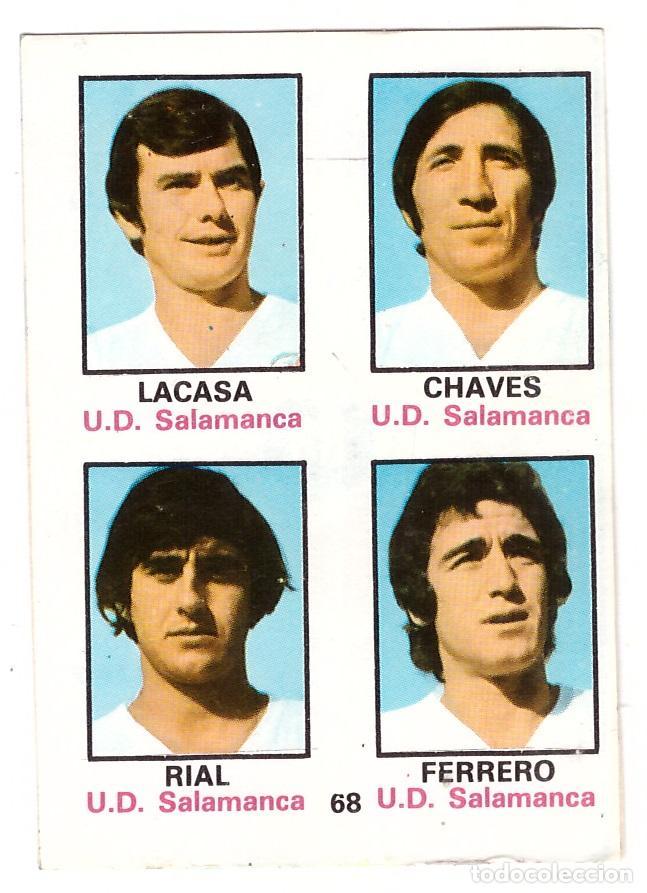 CROMO DE FUTBOL ALBUM 1974-75 FHER: ADHESIVO Nº 68, U.D. SALAMANCA (SEP-20) (Coleccionismo Deportivo - Álbumes y Cromos de Deportes - Cromos de Fútbol)
