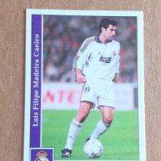 Cromos de Fútbol: CROMO Nº 18 FIGO REAL MADRID MUNDICROMO 2001-2002. NUEVO DE SOBRE.. Lote 222130441