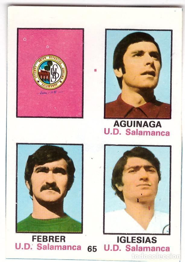 CROMO DE FUTBOL ALBUM 1974-75 FHER: ADHESIVO Nº 65, U.D. SALAMANCA (SEP-20) (Coleccionismo Deportivo - Álbumes y Cromos de Deportes - Cromos de Fútbol)