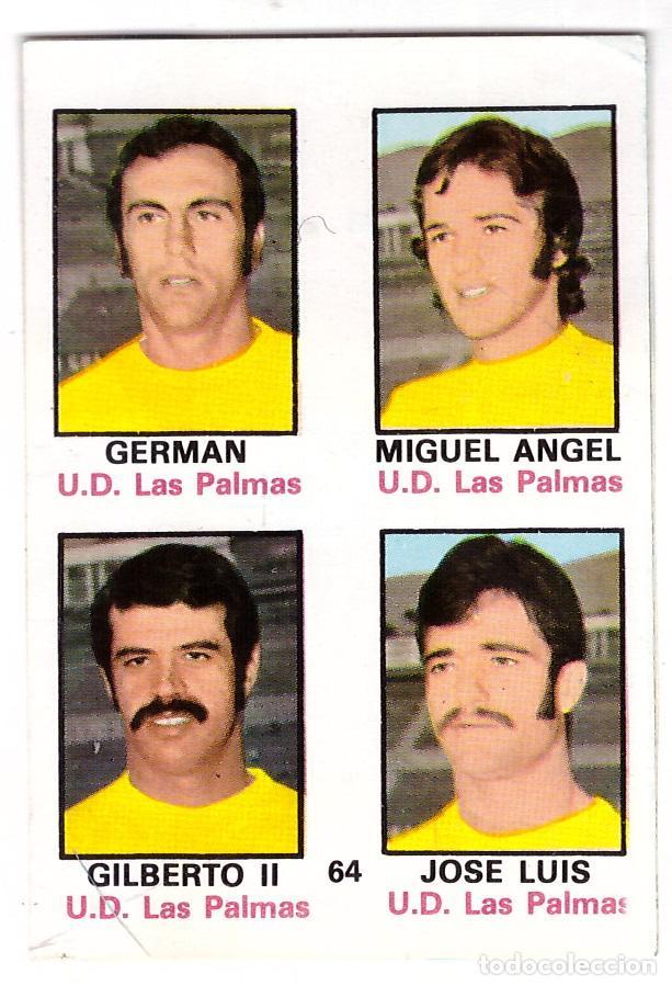 CROMO DE FUTBOL ALBUM 1974-75 FHER: ADHESIVO Nº 64, U.D. LAS PALMAS (SEP-20) (Coleccionismo Deportivo - Álbumes y Cromos de Deportes - Cromos de Fútbol)