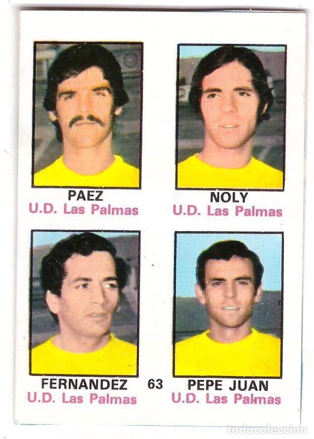 CROMO DE FUTBOL ALBUM 1974-75 FHER: ADHESIVO Nº 63, U.D. LAS PALMAS (SEP-20) (Coleccionismo Deportivo - Álbumes y Cromos de Deportes - Cromos de Fútbol)