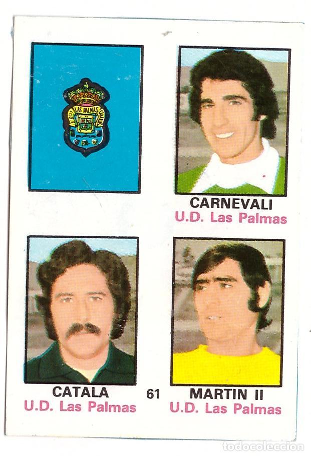 CROMO DE FUTBOL ALBUM 1974-75 FHER: ADHESIVO Nº 61, U.D. LAS PALMAS (SEP-20) (Coleccionismo Deportivo - Álbumes y Cromos de Deportes - Cromos de Fútbol)