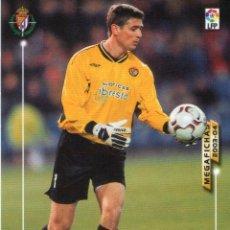 Cromos de Fútbol: BIZARRI (REAL VALLADOLID) - Nº 308 - MEGAFICHAS 2003/2004 - PANINI.. Lote 222140801