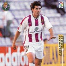Cromos de Fútbol: CAMINERO (REAL VALLADOLID) - Nº 313 - MEGAFICHAS 2003/2004 - PANINI.. Lote 222141478