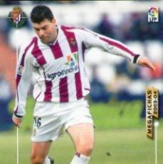 Cromos de Fútbol: JESÚS (REAL VALLADOLID) - Nº 316 - MEGAFICHAS 2003/2004 - PANINI.. Lote 222143128