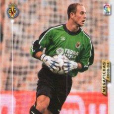 Cromos de Fútbol: REINA (VILLARREAL C.F.) - Nº 326 - MEGAFICHAS 2003/2004 - PANINI.. Lote 222147956
