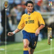 Cromos de Fútbol: BELLETTI (VILLARREAL C.F.) - Nº 327 - MEGAFICHAS 2003/2004 - PANINI.. Lote 222148090