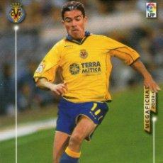 Cromos de Fútbol: JAVI VENTA (VILLARREAL C.F.) - Nº 328 - MEGAFICHAS 2003/2004 - PANINI.. Lote 222148208