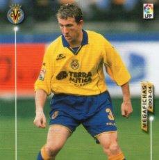 Cromos de Fútbol: ARRUABARRENA (VILLARREAL C.F.) - Nº 332 - MEGAFICHAS 2003/2004 - PANINI.. Lote 222150425