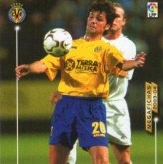 Cromos de Fútbol: ROGER (VILLARREAL C.F.) - Nº 333 BIS - NUEVA FICHA - MEGAFICHAS 2003/2004 - PANINI.. Lote 222150663