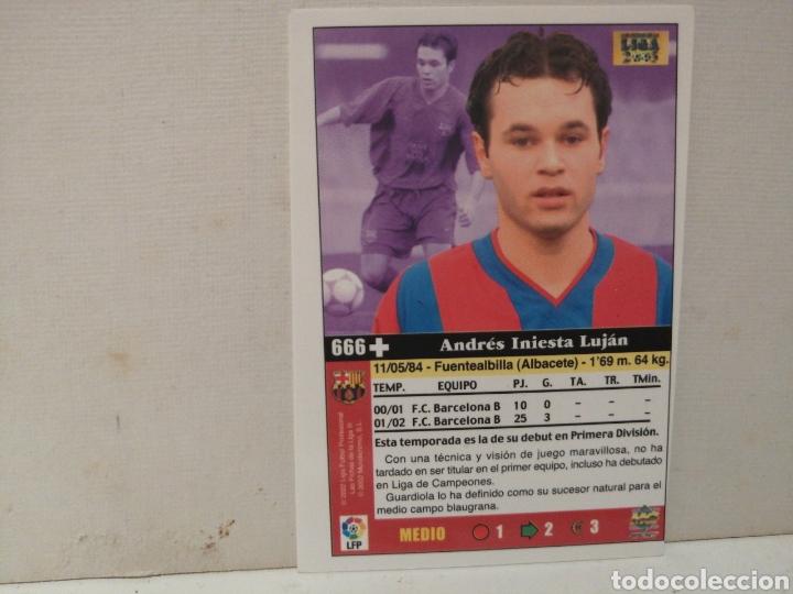 Cromos de Fútbol: INIESTA ROOKIE FICHAS DE LA LIGA 2003 CON ERROR DE IMPRESION - Foto 2 - 222183633