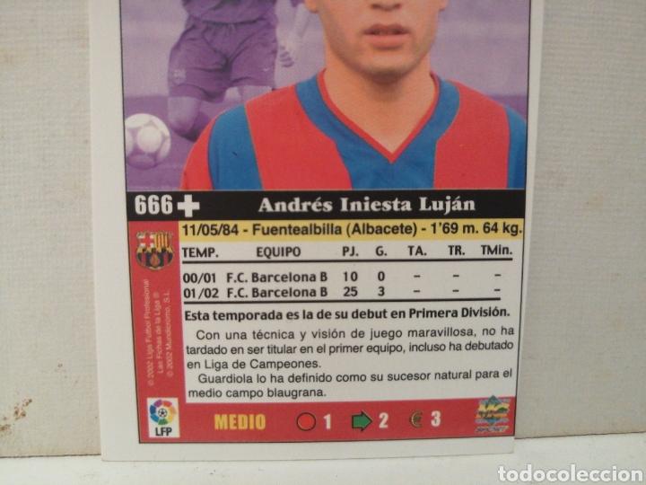 Cromos de Fútbol: INIESTA ROOKIE FICHAS DE LA LIGA 2003 CON ERROR DE IMPRESION - Foto 3 - 222183633