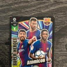Cartes à collectionner de Football: CROMO SUPER HÉROES ATÓMICOS DRENALYN 2017 2018 17 18 435 MESSI. Lote 222222465
