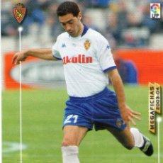 Cromos de Fútbol: DAVID PIRRI (REAL ZARAGOZA) - Nº 350 - MEGAFICHAS 2003/2004 - PANINI.. Lote 222223600