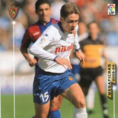 Cromos de Fútbol: CORONA (REAL ZARAGOZA) - Nº 355 - MEGAFICHAS 2003/2004 - PANINI.. Lote 222224450