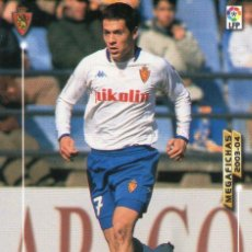 Cromos de Fútbol: GALLETTI (REAL ZARAGOZA) - Nº 357 - MEGAFICHAS 2003/2004 - PANINI.. Lote 222224716