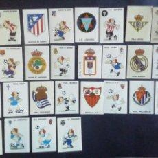 Cromos de Fútbol: CROMOS LIGA 94-95.PANINI. 28 ESCUDOS Y CARICATURAS DE CLUBS. SIN PEGAR. Lote 222311391