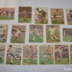 Cromos de Fútbol: EDICIONES TRIUNFO - 16 CROMOS - LIGA 59-60 / 1959 - 1960 - MUY DIFÍCIL ¡MIRA FOTOS/DETALLES! LOTE 02. Lote 222382022
