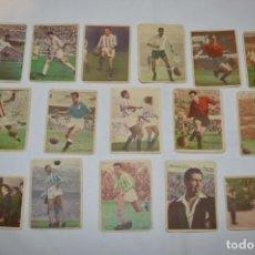Cromos de Fútbol: EDICIONES TRIUNFO - 16 CROMOS - LIGA 59-60 / 1959 - 1960 - MUY DIFÍCIL ¡MIRA FOTOS/DETALLES! LOTE 03. Lote 222382098