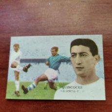 Cromos de Fútbol: CROMO FÚTBOL FHER 1962-1963 62-63 VALENCIA C. F. QUINCOCES. Lote 222710882