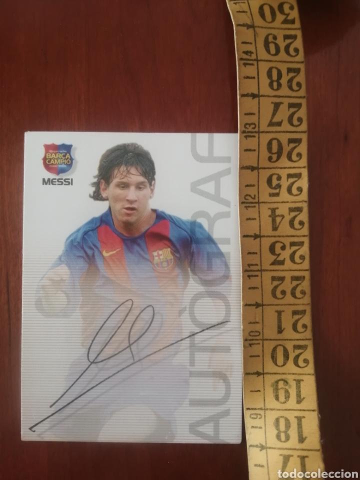 ROOKIE MESSI F.C. BARCELONA 89 MEGACRACKS BARCA CAMPIÓ 2004 EN EXCELENTE ESTADO (Coleccionismo Deportivo - Álbumes y Cromos de Deportes - Cromos de Fútbol)