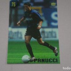 Cromos de Fútbol: CROMO CARD DE FUTBOL PANUCCI DEL INTER DE MILAN Nº 75 CALCIATORI 2000 DE MUNDICROMO. Lote 222849506