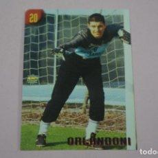Cromos de Fútbol: CROMO CARD DE FUTBOL ORLANDONI DEL BOLOGNA Nº 20 CALCIATORI 2000 DE MUNDICROMO. Lote 222849680