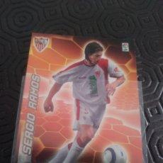 Cromos de Fútbol: MEGACRACKS 05/06 SERGIO RAMOS ROOKIE BAJA CON EL SEVILLA Y ALTA CON EL REAL MADRID. Lote 222857146