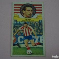Cromos de Fútbol: CROMO DE FUTBOL QUINI DEL SPORTING DE GIJONDESPEGADO LIGA ESTE 1985-1986/85-86. Lote 222897188
