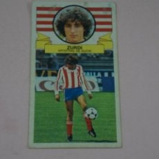 Cromos de Fútbol: CROMO DE FUTBOL ZURDI DEL SPORTING DE GIJONDESPEGADO LIGA ESTE 1985-1986/85-86. Lote 222897223
