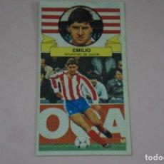 Cromos de Fútbol: CROMO DE FUTBOL EMILIO DEL SPORTING DE GIJONDESPEGADO LIGA ESTE 1985-1986/85-86. Lote 222900191
