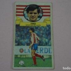 Cromos de Fútbol: CROMO DE FUTBOL TINO DEL SPORTING DE GIJONDESPEGADO LIGA ESTE 1985-1986/85-86. Lote 222900281