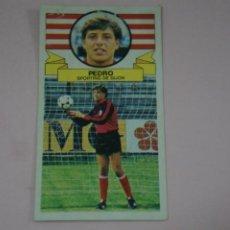 Cromos de Fútbol: CROMO DE FUTBOL PEDRO DEL SPORTING DE GIJONDESPEGADO LIGA ESTE 1985-1986/85-86. Lote 222900528