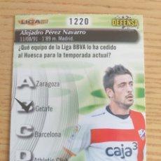 Cromos de Fútbol: FÚTBOL CROMO Nº 1220 ALEX PÉREZ S.D. HUESCA QUIZ GAME MUNDICROMO 2012 2013. Lote 222901511