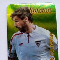Cromos de Fútbol: LLORENTE GOLDSTAR BRILLO LISO 26/45 SEVILLA FC METALCARDS FICHAS QUIZ LIGA 2016 MUNDICROMO. Lote 222902208
