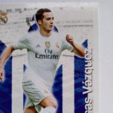 Cromos de Futebol: #544 LUCAS VAZQUEZ REAL MADRID LAS FICHAS QUIZ DE LA LIGA 2016 MUNDICROMO. Lote 223023353