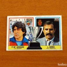 Cromos de Fútbol: ENTRENADORES - URIBARRI - LORENZO SERRA - LIGA 1986-1987, 86-87 - EDICIONES ESTE. Lote 223339817