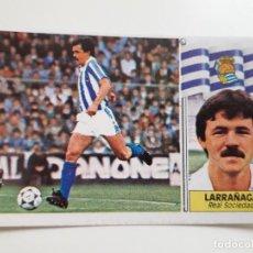 Cromos de Fútbol: LARRAÑAGA REAL SOCIEDAD EDICIONES ESTE CROMO SIN PEGAR NUEVO 86 87 1986 1987. Lote 223695256