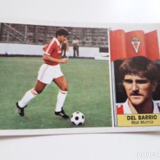 Cromos de Fútbol: DEL BARRIO MURCIA EDICIONES ESTE CROMO SIN PEGAR NUEVO 86 87 1986 1987. Lote 223699161