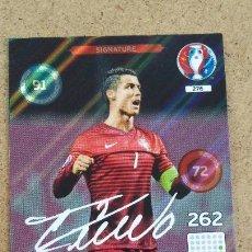 Cartes à collectionner de Football: ADRENALYN XL EURO 2016 - 276 CRISTIANO RONALDO - PORTUGAL - FIRMADA SERIGRAFIADA. (213). Lote 223935948